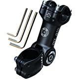 ZHIQIU 自転車ステム 自転車用ハンドルステム クランプ径28.6mm マウンテンバイク、ロードバイク、クロスバイク対応可能 ブラック0~80度調整可能自転車ステム、コラム、特徴:角度0~80度調整可能、長さ90mmと110mm、 マウンテンバイク、ロードバイク、クロスバイクに適応