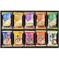 アマノフーズ バラエティギフト M‐300R 各20食(味わうおみそ汁:とうふ2食、豚汁2食、焼なす2食、なめこ2食、炒め野菜2食/九州みそもずく汁2食、瀬戸内みそあさり2食、八丁味噌焼なす2食、北海道みそかに汁2食、松茸のお吸いもの2食)
