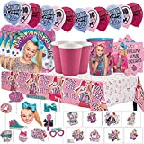 Another Dream JoJo Siwa MEGA Birthday Party Pack for 16 with Plates, Napkins, Cups, Tablecover, Favor Cup, Photo Props with S