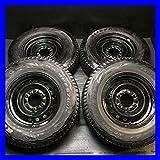 【中古スタッドレスタイヤ】【送料無料】4本セット ブリヂストン ブリザック DM-V1 215/80R15  / トヨタ純正   15x6.0  139.7-6穴  ハイエースに! 中古タイヤ W15161228062