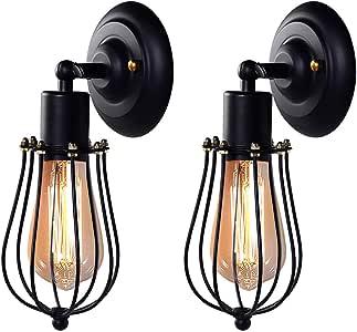 ブラケットライト レトロ ウォールランプ 2個入 240°調整可能 E26 KingSo ウォールライト 壁掛け照明器具 アンティーク調 工業北欧風 玄関ライト ダイニング リビング 居間 カフェ 寝室 ブロンズ(電球は別売り)