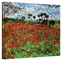 ArtWall Vincent Vangogh's Poppy Field, Gallery Wrapped Canvas, 14 x 18インチ