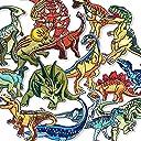 アイロンワッペン 恐竜 16枚 飾り アイロン接着 アップリケ 刺繍 縫い付け 手作り 刺繍ワッペン 補修 DIY 可愛い ステッカー パッチ