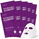 Sheet mask by glam up BTS Nourishing Acaiberry - Tighten, Firm Tired Skin. Regeneration Nature made Freshly packed Daily Skin