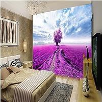 Sproud 大規模なカスタム壁紙ラベンダーの花海のベッドルームのソファベッドが置かれたリビングルームの Tv の背景 Papel De Parede Para Estar Sala 200 Cmx 140 Cm
