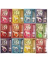 【プチギフト12個】アロマキャンドルとお香のギフトセット 専用ボックス入り 色と香りおまかせ 12個入り サンキューシール付き 退職/転勤/異動お礼ギフト (12個入り)