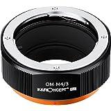K&F Concept レンズマウントアダプター KF-OMM43.P (オリンパスOMマウントレンズ → マイクロフォーサーズマウント変換)