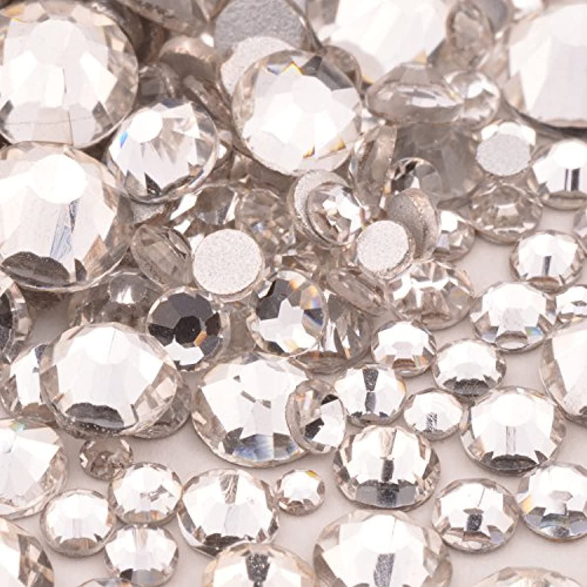 高品質ガラスストーン mixサイズ SS20 SS16 SS12 SS10 SS8 SS6 SS4 SS3 (入数1000粒以上) (クリスタルmix)