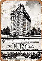 ザプラザホテルニューヨーク 金属板ブリキ看板警告サイン注意サイン表示パネル情報サイン金属安全サイン