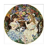 クロスステッチキット 14CT DIY 手作り 刺繍キット 二人の少女 全2種 - 空白, 62×62cm