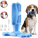 Erichome Dog Toothbrush Chew Toys - 2020 Upgraded Puppy Dog Teeth Cleaning Stick - Natural Rubber Dental Toothbrush Toys for
