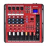 ammoon ミキサー ミキシングコンソール デジタル 2-バンドEQ Bluetooth 4チャンネルマイク・ラインレコーディング DJステージ カラオケ 音楽鑑賞用