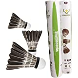 ZHENAN 12-Pack Advanced Goose Feather Badminton Shuttlecocks with Great Stability and Durability,Nylon Shuttlecocks Indoor Ou