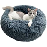 cat Bed Dog Bed Calming Dog Bed Comfortable Donut Cuddler Round Dog Bed,Cat Cushion Bed Ultra Soft Washable,Waterproof Bottom