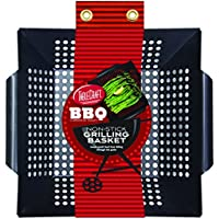 TableCraft BBQ1412 BBQ Nonstick Square Grilling Basket with Steel Handle, Small/Medium, Black by Tablecraft