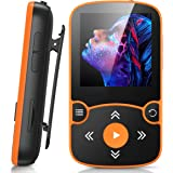 32GB Clip Jam MP3 Player, AGPTEK Bluetooth 5.0 Portable Music Player HiFi Lossless Sound with FM Radio, Voice Recorder, E-Boo