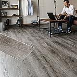 フロアタイル 貼るだけ フローリングタイル [72枚セット/No.1ウェザードパイン] 約6畳用分 木目調 接着剤付き DIY 床材 簡単 フロアーマット