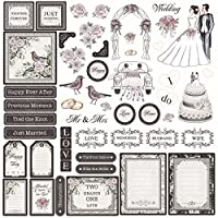 Feature Art FASE010 Wedding Die-Cut Ephemera, Pack of 48