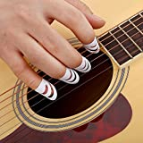 ギターフィンガーピック プラスチック DIY 指プロテクター ギター ベース ウクレレ マンドリン用 4個入