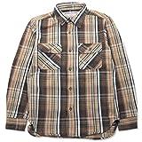 (アビレックス) Avirex デイリー フランネル チェック ワークシャツ 国内正規品 ブラウン 6175151-55-XL