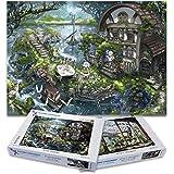 Playing Grounded コンボパック限定版ジグソーパズル 1000 ピース たまには遅い朝食をと Spring in Sakuragaoka ダブルパック、アニメパズル、ファンタジーパズル、春のパズル