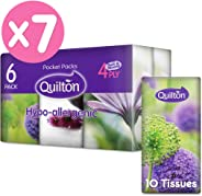 Quilton 4 Ply Hypo-Allergenic 10 Pocket Tissues 42 Pack, 420 count, Pack of 42