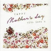 StephanieローズHappy Mother 's Day with Loveグリーティングカードアート範囲カード