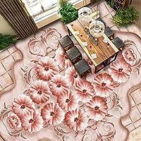 zljtyn美しい花壁紙3dバラ床壁紙リビングルーム自己粘着ビニール壁紙 ZL101317