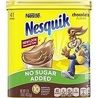 パックの6–Nestle Nesquik no sugar addedチョコレート味パウダー16オンスキャニスター