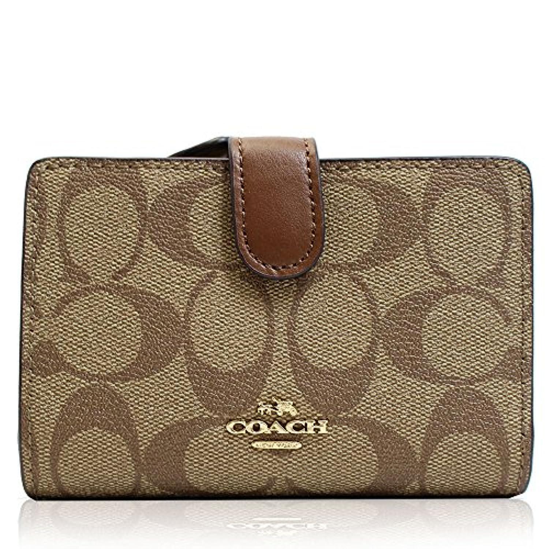 (コーチ)COACH 財布 二つ折り財布 シグネチャー PVC レザー 本革 カーキ レディース [ブランド][アウトレット]f23553ime74 [並行輸入品]