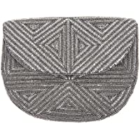 From St Xavier Women's Yale Clutch, Silver, One Size
