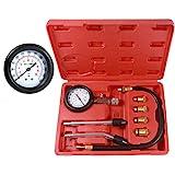 8pcs Petrol Engine Cylinder Compression Tester Kit Automotive Tool Gauge