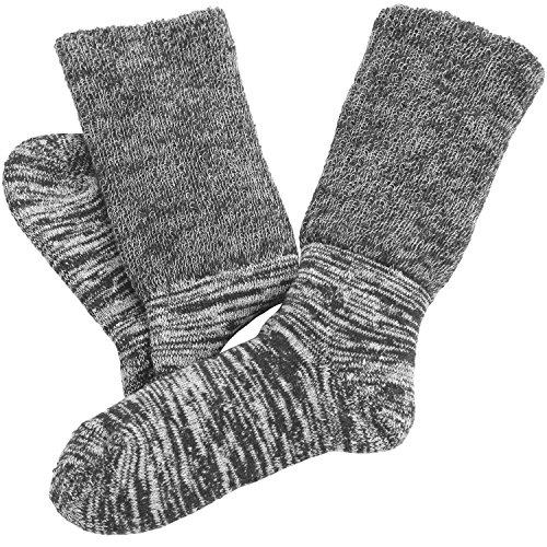 hiorie(ヒオリエ) 日本製 冷えとり靴下 内絹外綿 あったか 2重編み靴下 杢グレー シルク