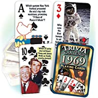 Flickbackメディア、Inc。1969 Trivia Playingカード: 49th誕生日や記念日ギフト