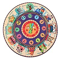 Mideer Clock Jigsaw Puzzles Creative Baby Toy 25 Pcs Puzzle Educational Toys for 3-6 years Old [並行輸入品]