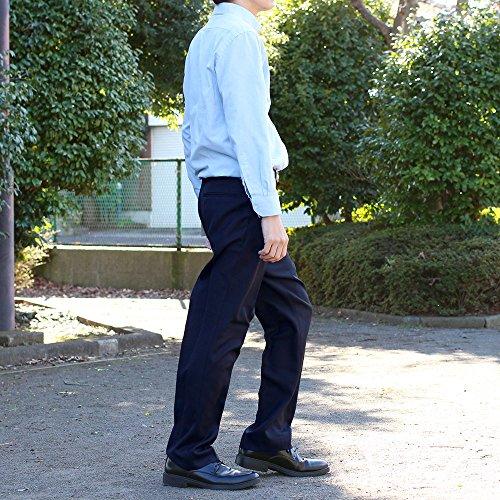選べる裾上げ済みツータックビジネススラックス 通年物 ネイビー (ウエスト82cm, レングス67cm)