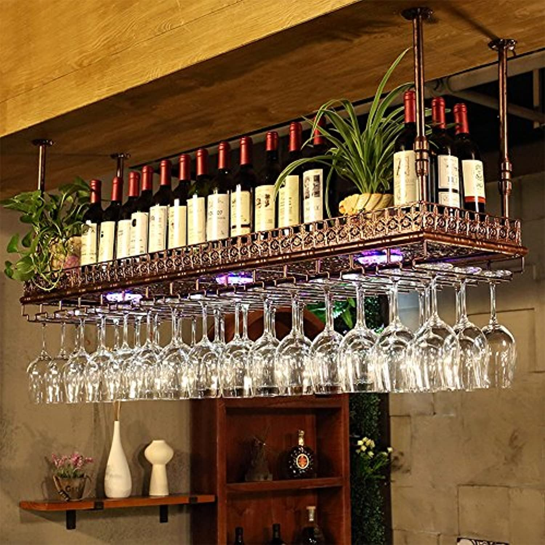 YD-Wine rack 鍛鉄ブロンズ/ブラッククリエイティブワインラックホームワインラック用3サイズあり # (色 : ブロンズ, サイズ さいず : 100 * 35 * 12cm)