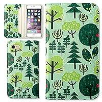 TORQUE G01ケース 手帳型 カバー かわいい 北欧柄 自然 森 植物 プリント スマホケース カード収納 ケース (ペパーミント) au エーユー