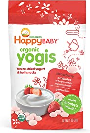 Happy Baby Organic Yogis Snacks, Strawberry, 28g