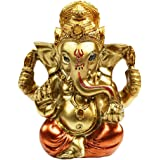 "BangBangDa 3.5"" H Hindu God Ganapathi Fengshui Ganesh Figurine Good Luck Buddha Indian Lord Ganesha Statues Diwali Gifts Puja"
