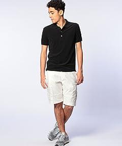 Pile Polo Shirt 1117-133-2034: Black
