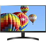 "LG 27ML600M-B 27"" FHD IPS Monitor, NTSC 72%, 1ms MBR, 5ms (GTG), 75Hz, HDMI, Narrow Bezels, FreeSync, Black Stabilier, Black"