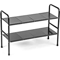 シンク下 収納 伸縮棚 洗面台下 収納 2段 キッチンラック 組立&お手入れ簡単 幅約53~90cmまで伸縮可能 高度調…