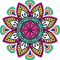 フロアステッカー - Nobility Rangoli Pattern Floor Sticker - PVC Vinyl - Size: 60 x 60 cm