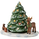 Villeroy & Boch Toys Christmas Tree with Forest Animals, Porcelain, White, 23x17x17cm