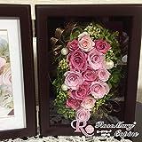 プリザーブドフラワー 写真たて  フォトフレーム 母の日 プリザ アレンジ ギフト バースディ お祝い 結婚祝い 退職祝い バースデー フレームアレンジ ボックス ap-066