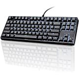 VELOCIFIRE TKL02 87 Key Mechanical Keyboard with Outemu Brown Switches, and LED Backlit for Copywriters, Typists and Programm