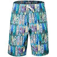 APTRO Men's Swim Shorts Colorful Bathing Suits Trunks with No mesh Lining