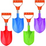 16-Inch Heavy Duty Stainless Steel Kids Mini Beach Diggers Sand Scoop Shovels with Plastic Spade and Handle for Summer Outdoo
