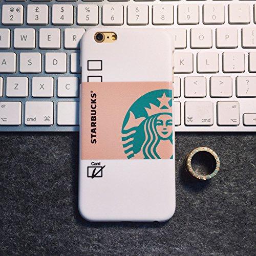 (キュートゴーゴー)Cutegogo iPhone6/6s iPhone6 plus iPhone6s plus ケース  スターバックス STARBUCKS スタバ コーヒー フラペチーノ カバー 保護ケース カバー 保護カバー プレゼント 大人気 メンズ レディース ファッション(iPhone6plus/6s plus ホワイト)